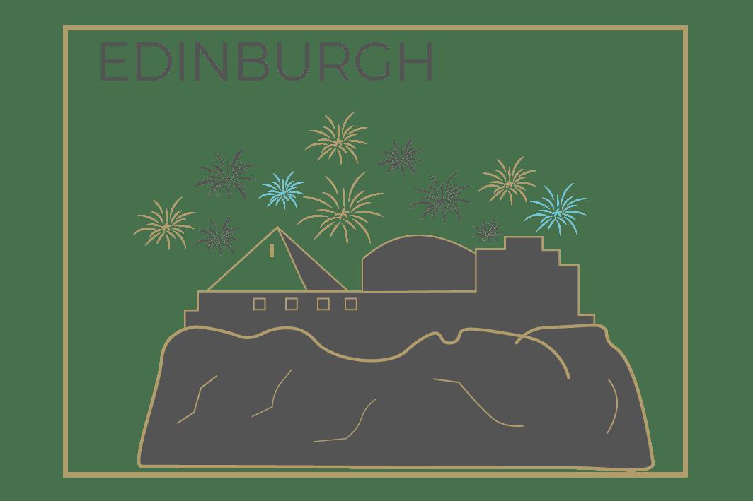 Edinburgh fireworks icon