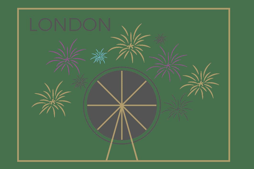 London celebration icon
