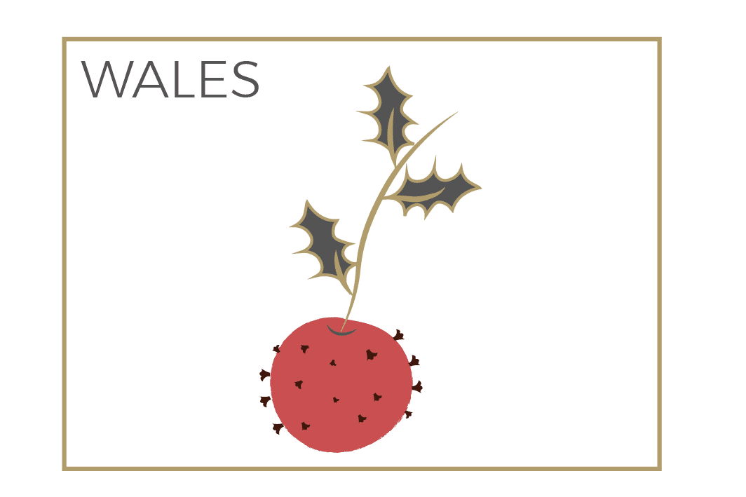 Wales Christmas icon