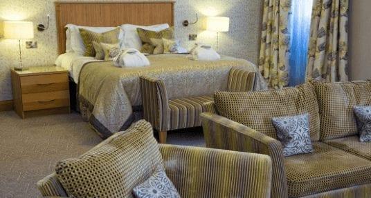 Armathwaite Hall Spa Deluxe bedroom