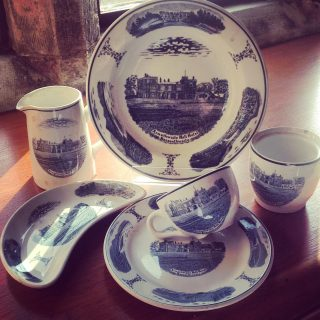 Dine in style!   This weeks #ThrowbackThursday is a look back at the hospitality of a an early Armathwaite Hall.   When in the dining room or in the lounge for afternoon tea, guests would dine from this unique collection of tableware specially commissioned for Armathwaite Hall.  The blue and white porcelain crockery includes an image of the hall and gardens, a lovely surprise to discover when you have completed your meal!   #armathwaitehall #throwbackthursday #blueandwhite #tableware #tablewaredesign #lakedistrict #countryhousehotel #countryhousehotels #countryhousedecor #countryhouseantiques #englishcountryhouse #hotel #diningroom #hospitality #plates #crockery #crockerylove #porcelain