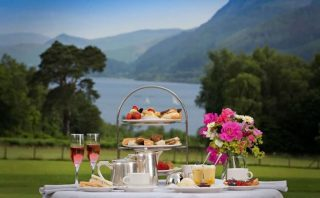 Afternoon tea with a view like no other. Our luxury afternoon teas include a selection of freshly made sandwiches, homemade cake, biscuits, scones with jam and cream and tea or coffee for just £26.50 per person. Tea service is from 12:30 pm-5:00 pm! Book today on 017687 76551. #armathwaitehall #thespaatarmathwaitehall #afternoontea  #hightea #lakedistrict #spasinthelakedistrict #lakedistrictuk