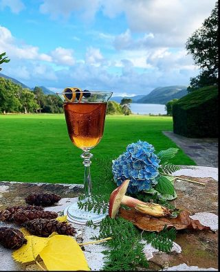 We offer a wide range of cocktails in the bar to enjoy   This cocktail is a ✨Rob Roy✨ cocktail 🍸 perfect to enjoy in the beautiful autumn evening   #cocktails #cocktail #itsfiveoclocksomewhere #armathwaitehallhotel #lakedistrict #hotel