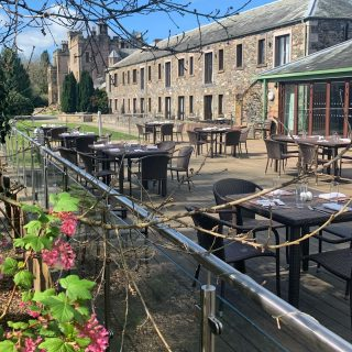 What a beautiful day for lunch or drinks on the Lime Trees Terrace!  Call us on 017687 76551  #outdoordining #armathwaitehall #alfrescodining #lakedistrict #lakedistrictuk