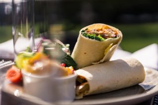 Dine in the sunshine on our Lime Trees Terrace and experience a range of traditional favourites, from fresh wraps to salads and incredible stone-baked pizzas.  Book your table today on 017687 76551. #armathwaitehall #outdoordining #summer #lakedistrict #lakedistrictuk