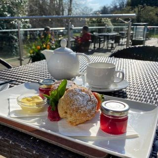 What could be better than cream scones to celebrate #nationalteaday   You can indulge every day as we serve a delicious cream tea on the Lime Trees Terrace which consists of two scones (plain or fruit) and tea/coffee £9.95 per person served daily 12.00–5pm   To book call 017687 76551