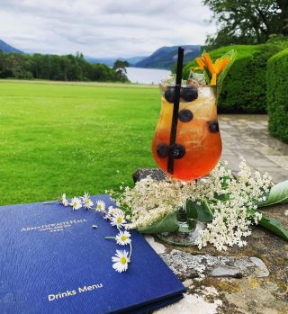 How refreshing 🍹  How to spend sunny days at Armathwaite Hall.  #armathwaitehall #cocktails #cocktail #outdoordining #outdoordrinks #outdoorcocktails #lakedistrict #lakedistrictuk #bassenthwaitelake